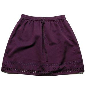 J Crew A Line Skirt Pleated Size 4 Purple Lined
